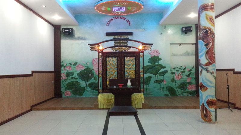 Phòng hành lễ tại Đài hỏa táng Phước Lạc Viên