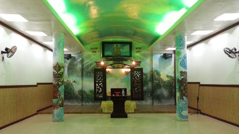 Phòng hành lễ tại hỏa táng Phước Lạc Viên Bình Dương