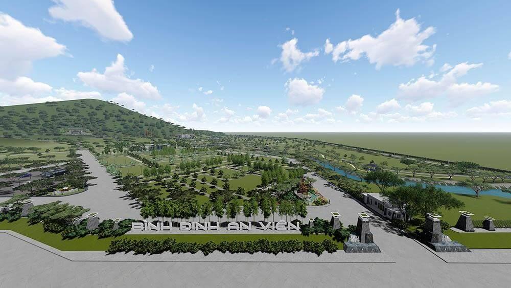 Phối cảnh tổng quan công viên nghĩa trang Bình Ðịnh An Viên