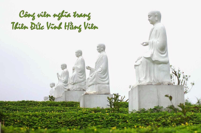Tượng phật bên trong công viên nghĩa trang Thiên Đức Vĩnh Hằng Viên