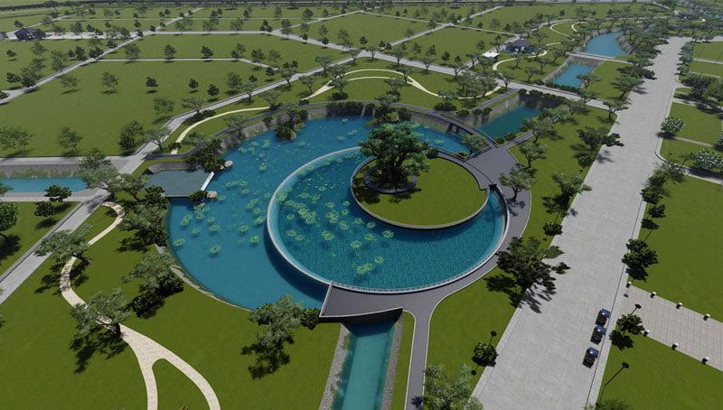 Phối cảnh 3D Công viên trung tâm
