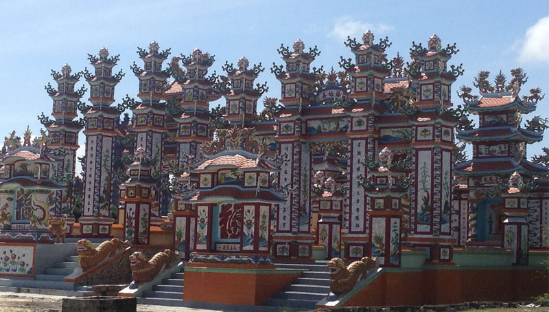 Kiến trúc của khu lăng mộ An Bằng nhìn như một cung điện thu nhỏ