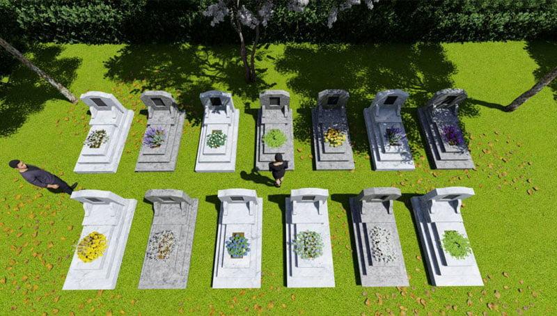 Mộ đơn nghĩa trang Bình Định An Viên