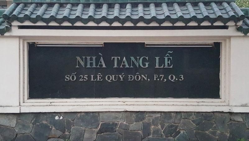 Nhà tang lễ Lê Qúy Đôn