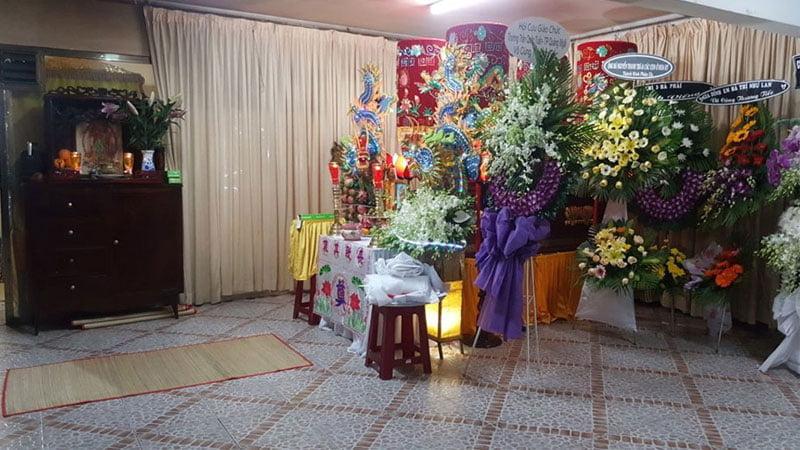 Lễ an tang tại chùa Bồ Đề