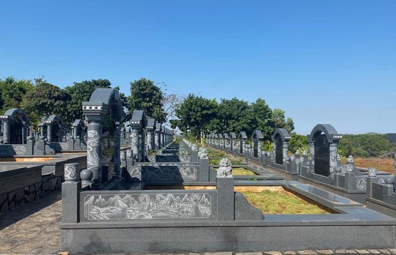 Mẫu mộ thiết kế hàng loạt là xu hướng hiện nay của các hoa viên nghĩa trang