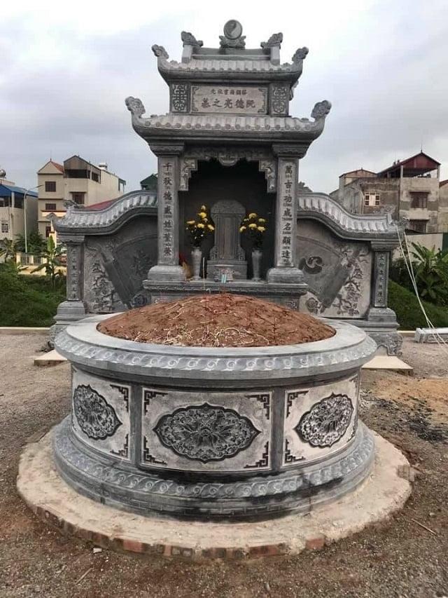 Mẫu mộ tròn đá - xu hướng chọn mộ đá năm 2021