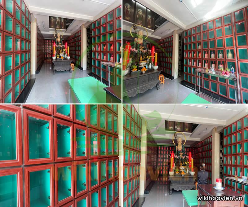 Hình ảnh bên trong nhà lưu tro cốt chùa Huê Nghiêm Giảng Tự
