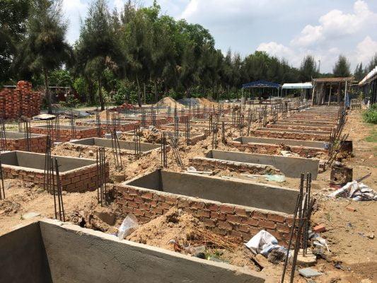 Kim tĩnh được xây dựng sẵn hàng loạt tại nghĩa trang đa phước