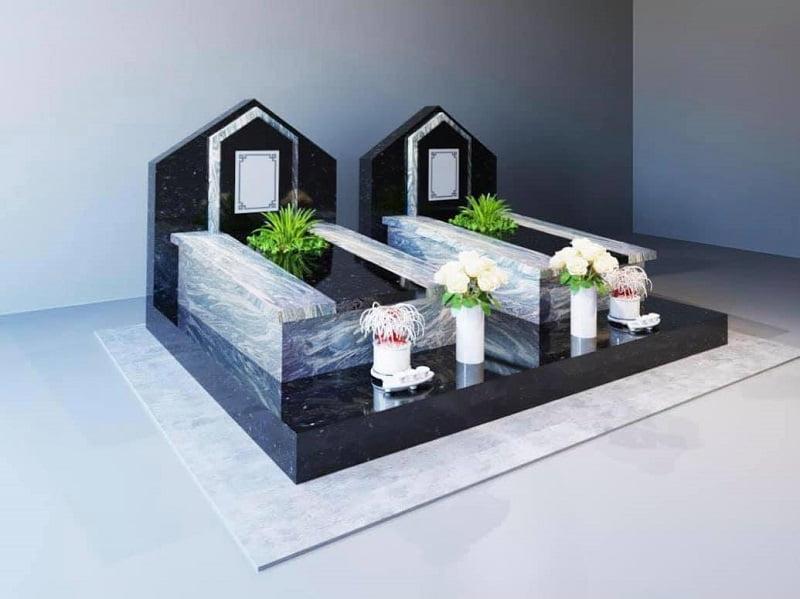 mẫu mộ đôi tại công viên nghĩa trang phúc an viên long an