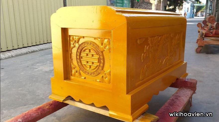 Quan tài được dùng cho mộ cải táng làm bằng gỗ Vàng Tâm - Tang Lễ Trọn Gói